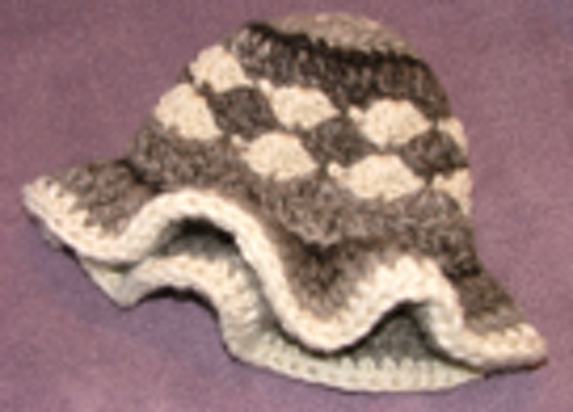 Crocheted hat for sheep site
